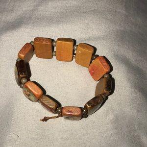 Religious Wood Stretch Bracelet